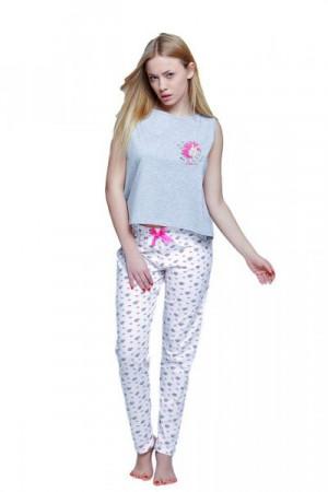 Sensis Unicorn dámské pyžamo šedo-bílá XL šedo-bílá