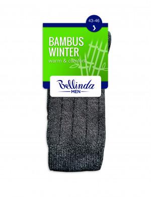 Pánské zimní ponožky BAMBUS WINTER SOCKS - BELLINDA - šedý 39-42
