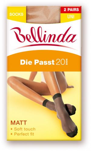 Silonkové ponožky DIE PASST 20 DEN SOCKS 2 PACK - set 5 ks - BELLINDA - bronzová UNI