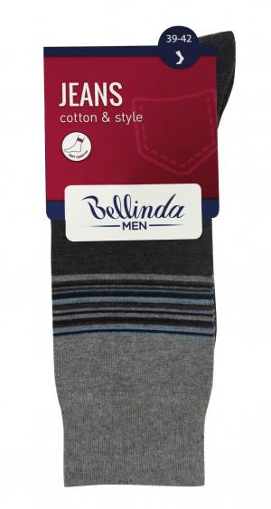 Pánské ponožky JEANS CLASSIC SOCKS - 3 ks - BELLINDA - proužky 39-42
