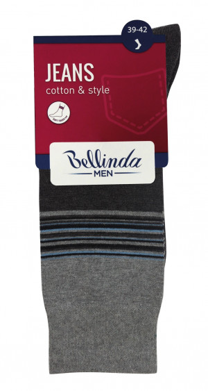 Pánské ponožky JEANS CLASSIC SOCKS - 3 ks - BELLINDA - denim 39-42