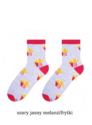 Dámské ponožky More Fastfood 078 sv.šedá žíhaná 39-42