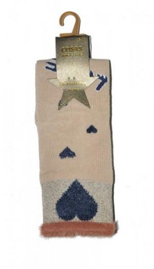 Cosas LM-2/3 Love ponožky  35-38 tmavě modrá