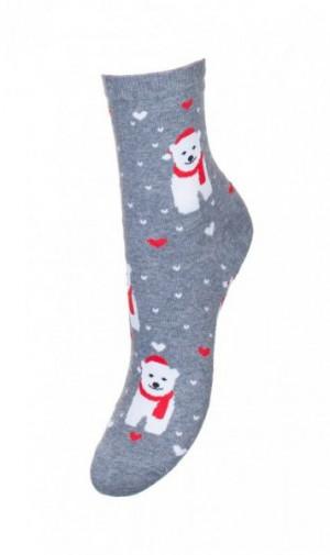 Milena sváteční Dámské ponožky 37-41 mix barva-mix vzor