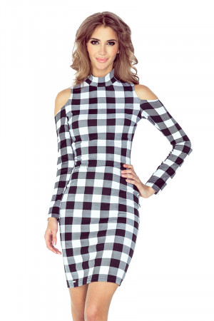 Dámské šaty 008-2 černo-bílá