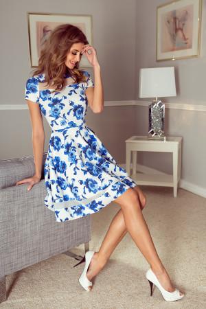 Dámské šaty 003-3 bílo-modrá