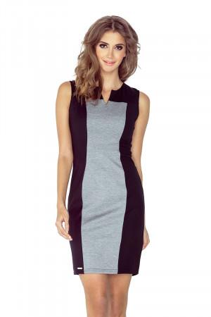 Dámské šaty 006-3 černo-šedá