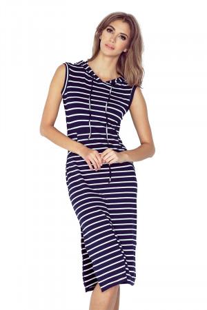 Dámské šaty 012-1 bílo-modrá