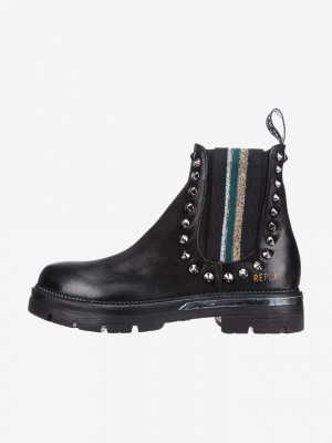 Kotníková obuv Replay Černá