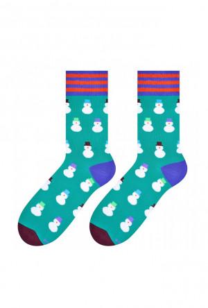 Pánské ponožky 079 Sváteční - MORE zelená-potisk 39-42