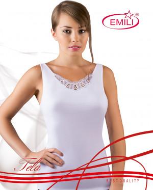 Bílá dámská košilka Emili Tela S-XL  bílá