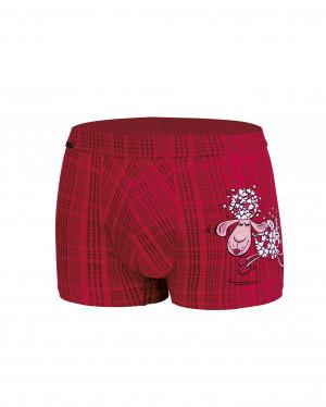 Pánské valentýnské boxerky Cornette 010/57 Lovely Sheep  červená