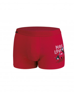 Pánské valentýnské boxerky Cornette 010/62 Make Love 2  červená