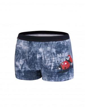 Pánské valentýnské boxerky Cornette 010/61 Make Love  jeans