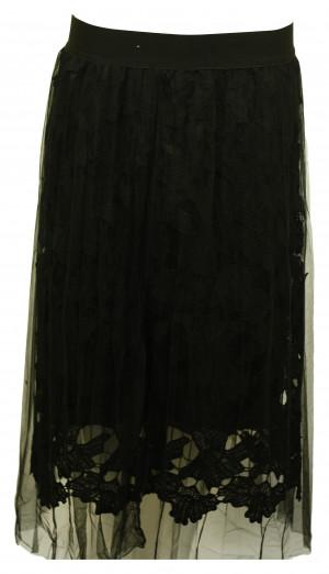 Dámská společenská sukně s tylem - Gemini bílá uni