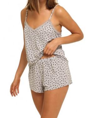Dámské pyžamo QS6306E-VGT šedá - Calvin Klein šedá