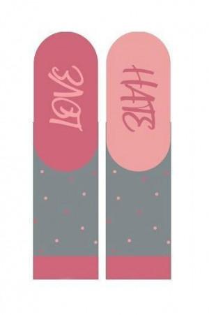 Soxo 3139 Dámské valentýnské ponožky s instrukcemi 35-40 růžová