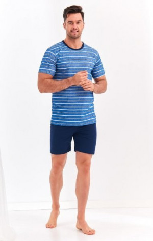 Taro Max 072 'L20 pánské pyžamo XXL tmavě modrá