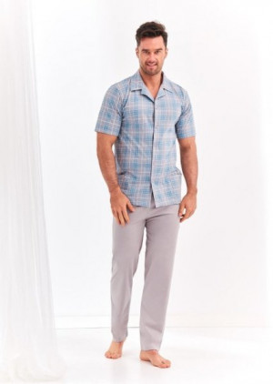 Taro Gracjan 954 2XL-3XL 'L20 Pánské pyžamo XXL šedá