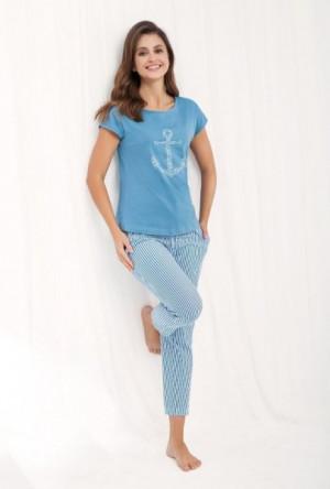 Luna 475 dámské pyžamo M bílá