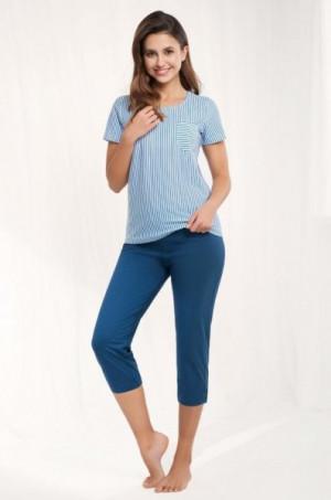 Luna 483 4XL dámské pyžamo 4XL modrá