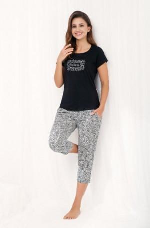 Luna 485 dámské pyžamo M černá