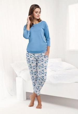 Luna 488 4XL dámské pyžamo 4XL modrá
