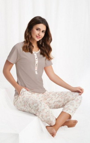 Luna 442 dámské pyžamo XL béžová