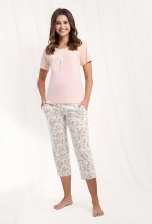 Luna 442 4XL dámské pyžamo 4XL béžová