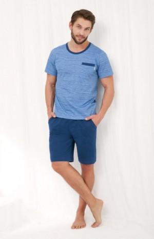 Luna 786 Pánské pyžamo M modrá