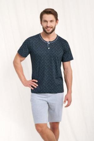 Luna 783 Pánské pyžamo XL modrá