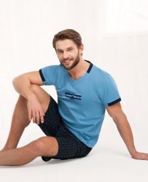 Luna 782 Pánské pyžamo M modrá