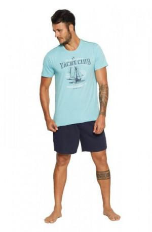 Henderson Core 37845 Relax Pánské pyžamo M pale turquoise