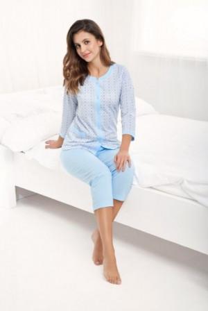Luna 493 3XL dámské pyžamo 3XL modrá