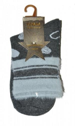 Cosas LM-2/13 ponožky Srdce 39-41 černá