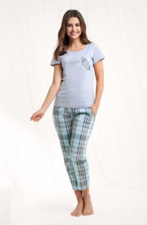 Luna 468 dámské pyžamo M růžový melanž