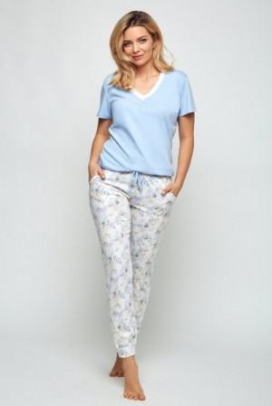 Cana 505 dámské pyžamo L błękitny-ecri