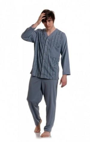 Gucio 854 4XL-5XL rozepínané pánské pyžamo 4XL mix barva-mix vzor