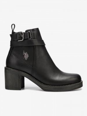 Cecile Kotníková obuv U.S. Polo Assn Černá