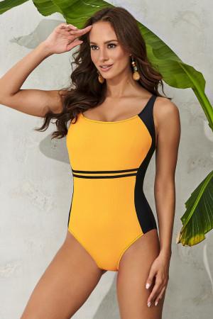 Dámské jednodílné plavky Clara Yellow