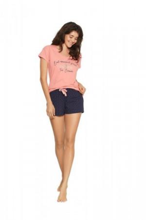 Henderson Fizzy 38054-30X Dámské pyžamo L růžovo-tmavě modrá