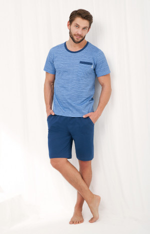 Pánské pyžamo Luna 786 kr/r M-2XL   modrá