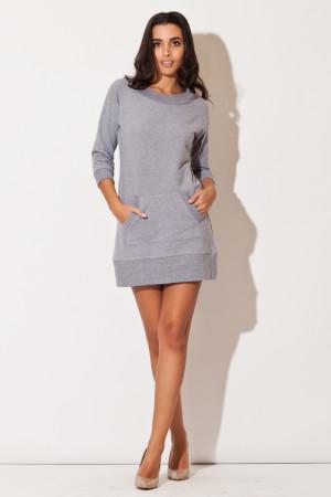 Dámské šaty K144 - Katrus  šedá