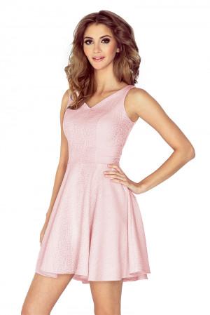 Dámské šaty 014-5 pudrově růžová