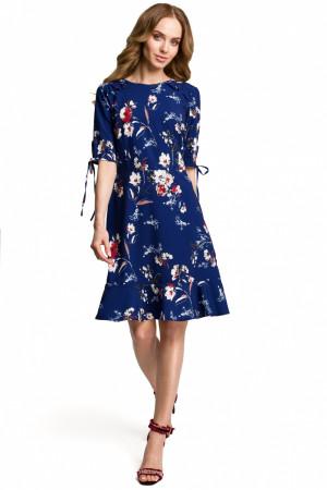 Dámské šaty M381 - Moe  tmavě modrá - vzor 44/2XL