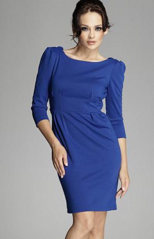 Elegantní šaty M082 modrá - Figl modrá