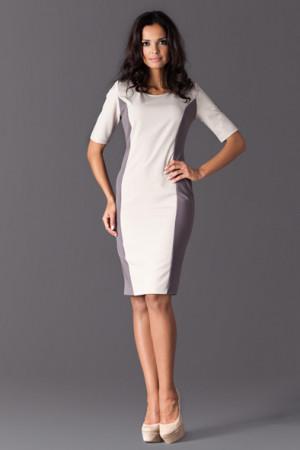 Elegantní šaty M130 - Figl bílo-černá