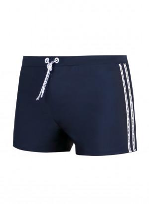Pánské plavky boxerky Self S 88T 3XL-6XL černá 3XL