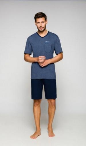 Regina 563 plus pánské pyžamo XXL fialová