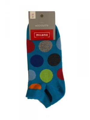 Milena 1146 kotníkové ponožky s vzorem 35-37 mix barva-mix vzor